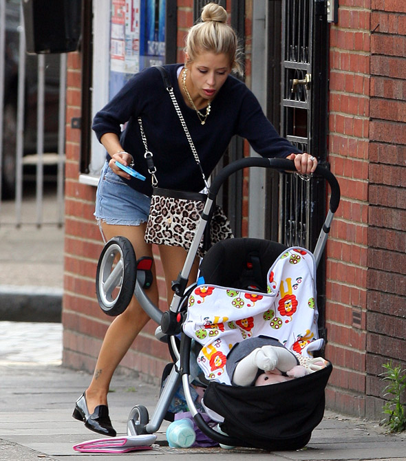 Peaches Geldof's horror as Astala's pram falls down a pothole