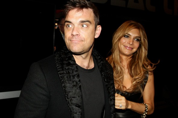 'Terrified' Robbie Williams announces arrival of baby daughter Teddy on Twitter
