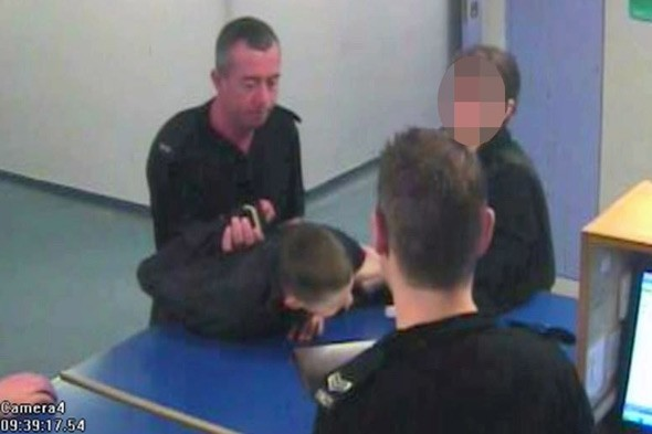 Policeman manhandling 15-year-old caught on CCTV. Officer quits after misconduct verdict