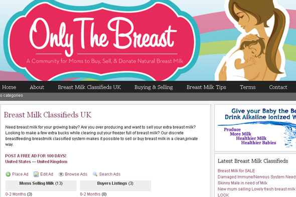 Would you buy breastmilk from a website (or sell yours online)?
