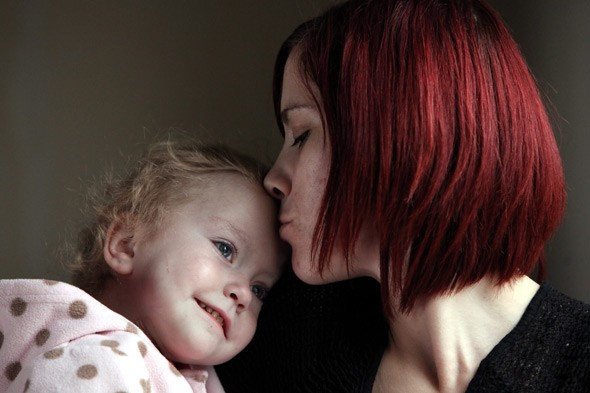 'Brave little fighter' Maddie born with her bowels outside her body