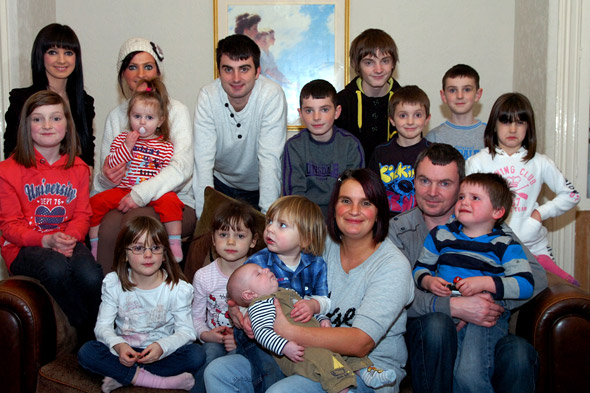 Britain's biggest family welcomes 16th child...and mum wants another!