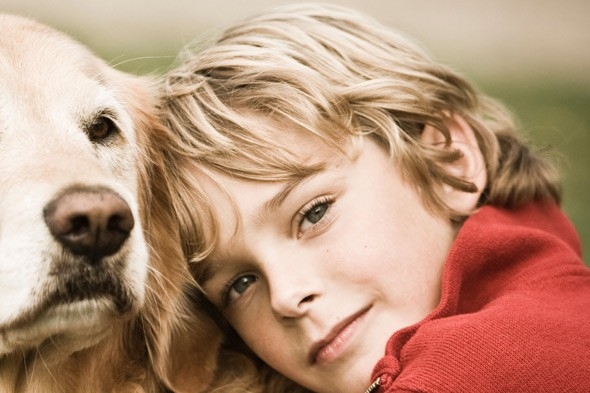 A boy's best friend! Pet pooch Geo breaks a leg saving 10-year-old's life