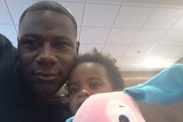 Mum gave baby up for adoption - without telling her husband. Dad Terry Achane with his daughter