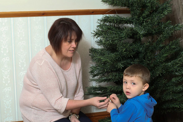 Toddler flung 6ft through the air by electric shock from Argos Christmas tree