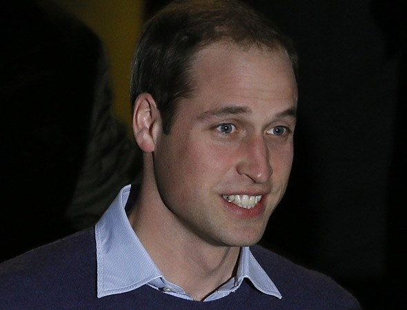 Prince William is all smiles - but Kate could be on a drip for months