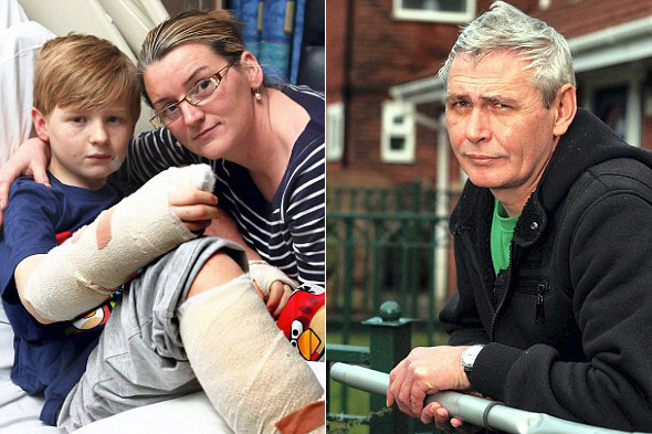 Neighbour saves boy from dog attack by beating animal with vacuum cleaner tube