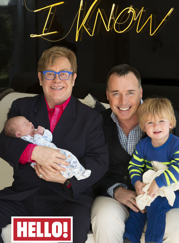 First pictures of Sir Elton John and David Furnish's new baby Elijah