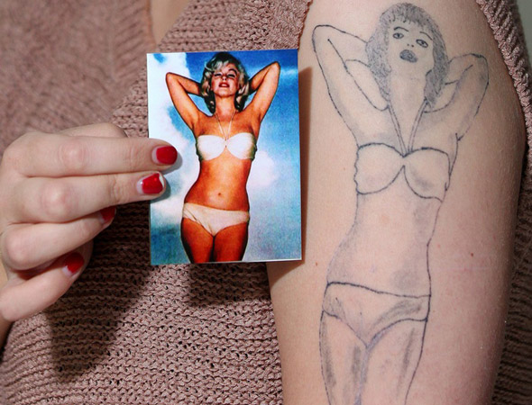 Teenager's fury as Marilyn Monroe tattoo looks like blow up doll!
