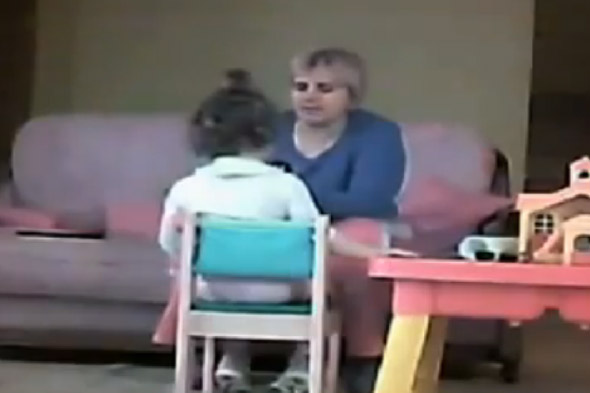 Horrified parents secretly filmed 'monster nanny' abusing their two-year-old daughter