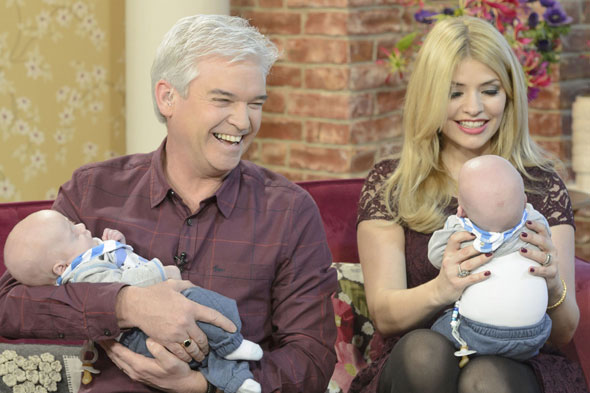 Holly Willoughby admits to being broody after twins visit the This Morning studios