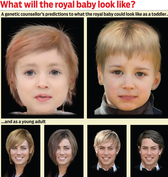 Is this what Kate and William's new baby will look like when grown up?