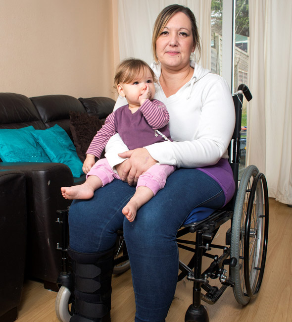 Mum's miraculous recovery after breaking nearly every bone in horror smash which baby survived