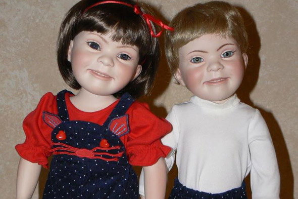 Mum creates mini-me Down's Syndrome dolls to give her daughter a 'friend for life'