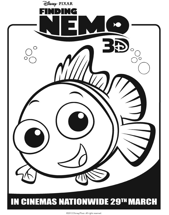 Finding Nemo Colouring Sheets