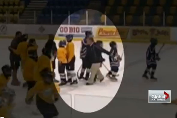 Jail for hockey coach who tripped up 13-year-old and caused fractured wrists