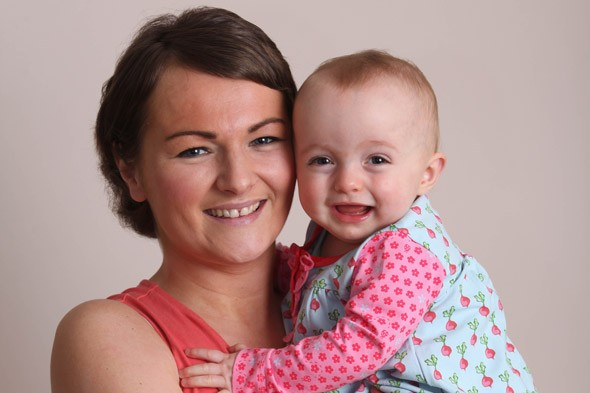 Life saver: Mum's unborn baby alerted her to cervical cancer
