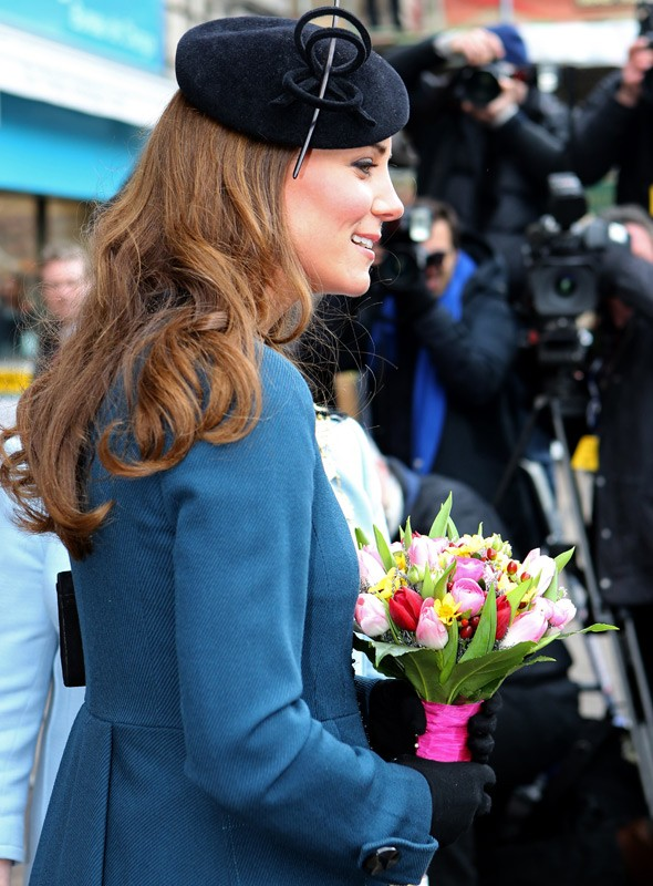 Kate Middleton's lookalike gets herself a doppelganger baby bump!