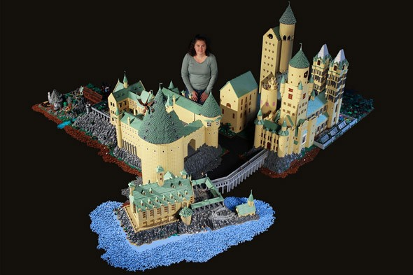 Check out mum's amazing Lego model of Harry Potter's Hogwarts