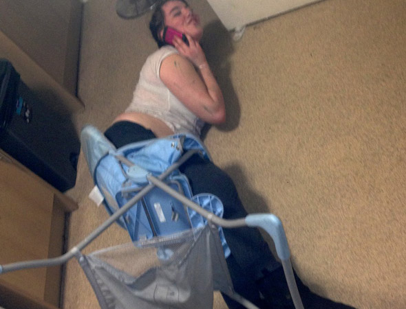 Firefighters free stuck party girl from baby's high chair