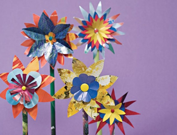 Crafts For Kids How To Make Glossy Paper Flowers Huffpost Uk