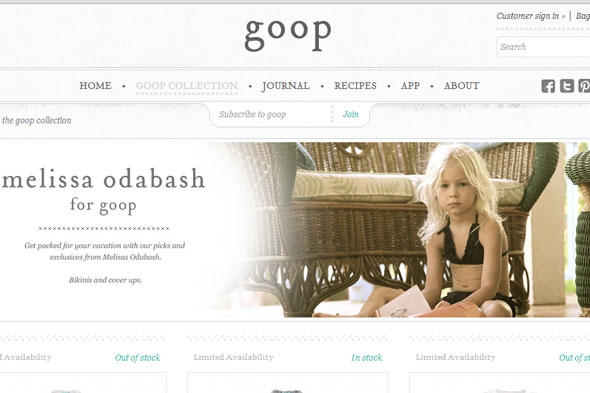 Gwyneth Paltrow advertises bikinis for four-year-olds on her website