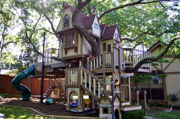 For the child who has everything... a tree MANSION!