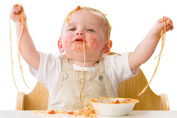 Image result for messy baby eating