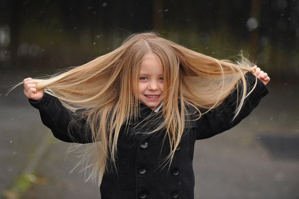 Boy, 3, has his two-foot long locks made into a wig for cancer kids