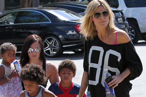 Super model Heidi Klum pays her kids to eat healthily