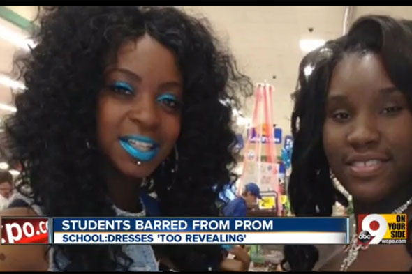 Girls' fury at prom ban over revealing dresses