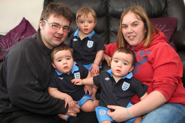 Mum who lost three babies has triplets - by accident
