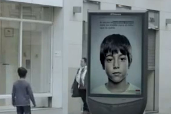 Child-abuse helpline poster that can only be seen by kids launched