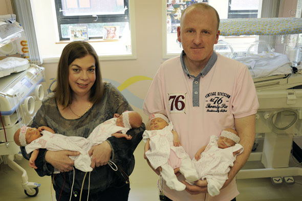 New mum's 70 million-to-one quads from a single embryo
