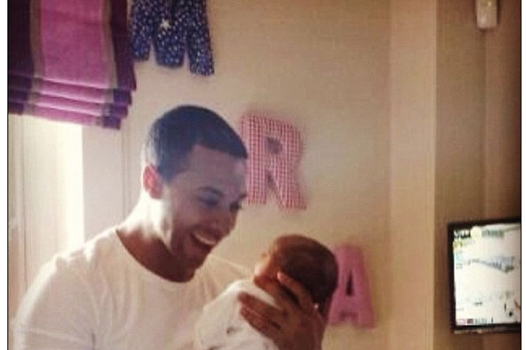 First picture of Rochelle and Marvin Humes's daughter Alaia-Mai