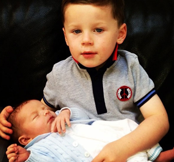 Me and my big brother! Wayne Rooney shares cute photo of sons Kai and Klay