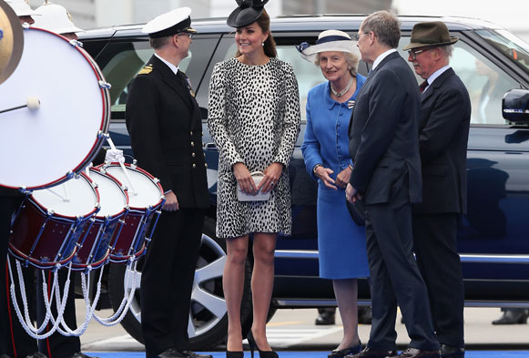 Kate Middleton pregnant: Duchess of Cambridge wears dalmatian print for last solo engagement before birth