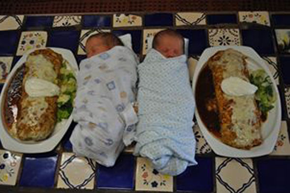 Good enough to eat? Burrito babies that have started a new photo trend