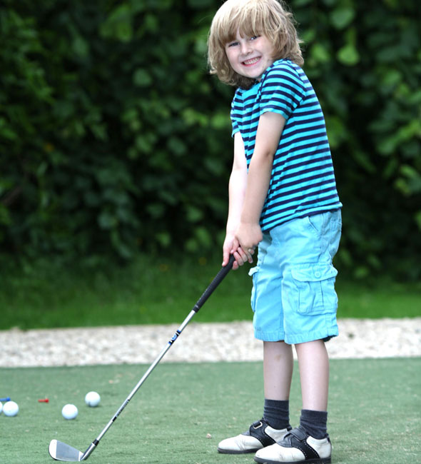 Six-year-old golfer picked to play for Britain against teens three times his age