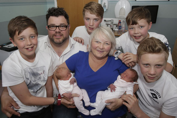 Parents beat 500,000 to one odds to give birth to third set of twins