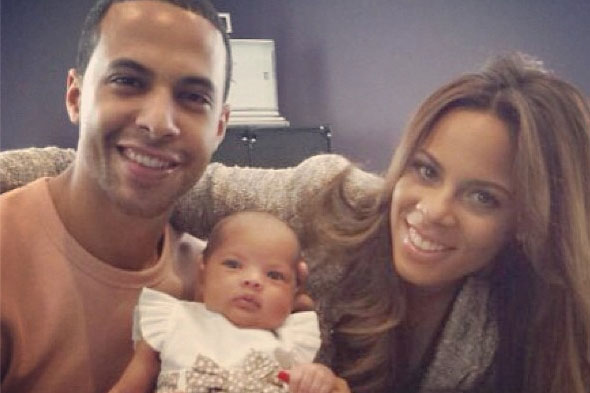 Cute! Rochelle and Marvin share beautiful picture of baby Alaia-Mai