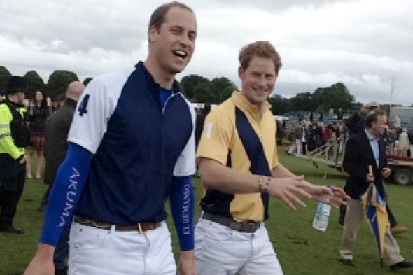 Schoolgirl snaps polo playing Princes William and Harry