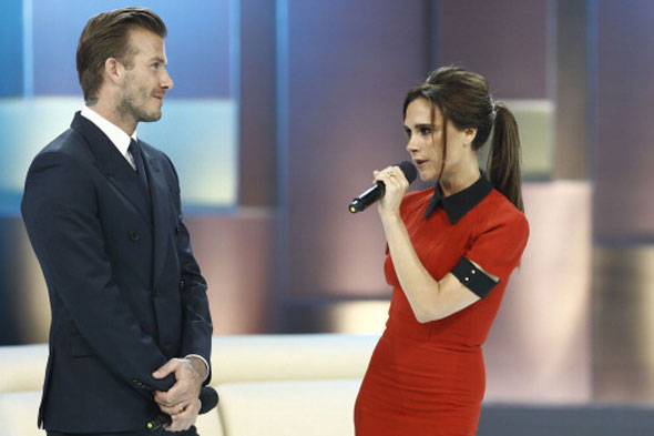 David Beckham posts photo of wife Victoria with caption: 'See I told you she smiled'