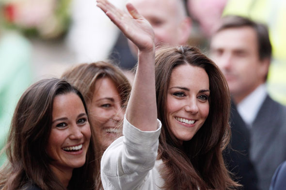 Kate's in labour but mum Carole and sister Pippa WON'T be in delivery room