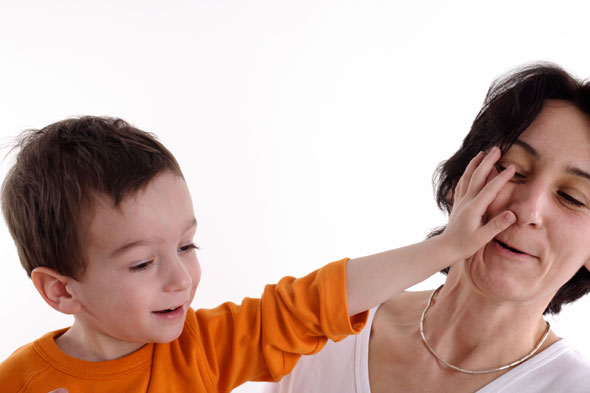 What do you do if your child hits you?
