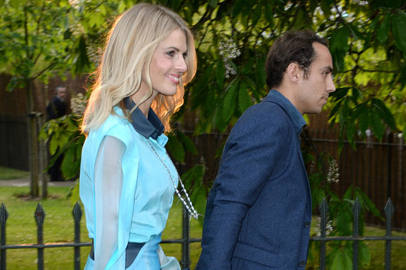 Donna Air makes herself at home with the Middletons - and baby George
