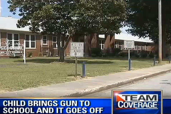 Five-year-old boy aressted after gun goes off in school canteen