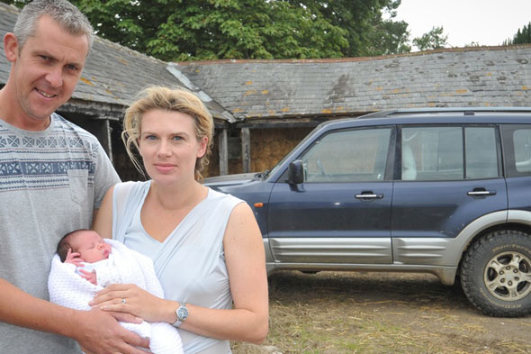 Holy cow! Cattle farmer delivers his own baby