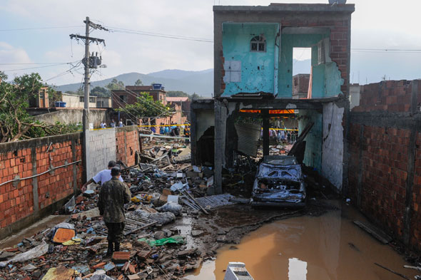 Girl, 3, killed and 17 injured by massive torrent of water from burst mains