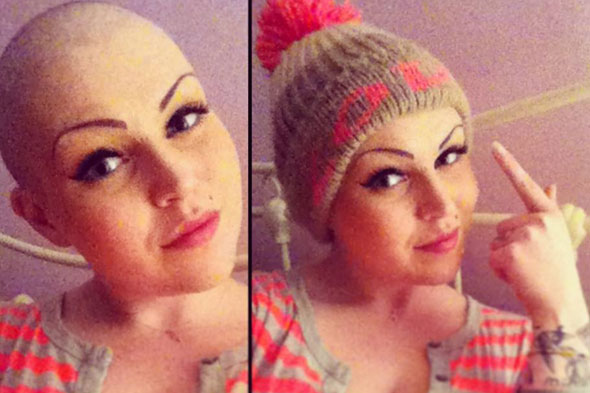 'Facebook helped me beat cancer' says 22-year-old mum